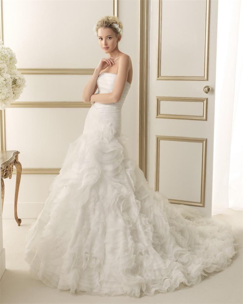 ウェディングドレス サイズオーダー 送料無料 マーメイドライン 結婚式 二次会 披露宴 ws2627