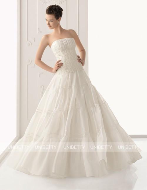 ウェディングドレス サイズオーダー無料 オーダードレス ウエディング プリンセスライン WEDDING DRESS 披露宴 演奏会 結婚式 二次会 WS2297