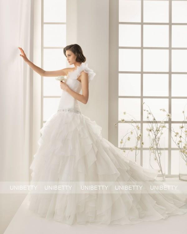 ウェディングドレス サイズオーダー無料 オーダードレス ウエディング プリンセスライン WEDDING DRESS 披露宴 結婚式 二次会 ws2577