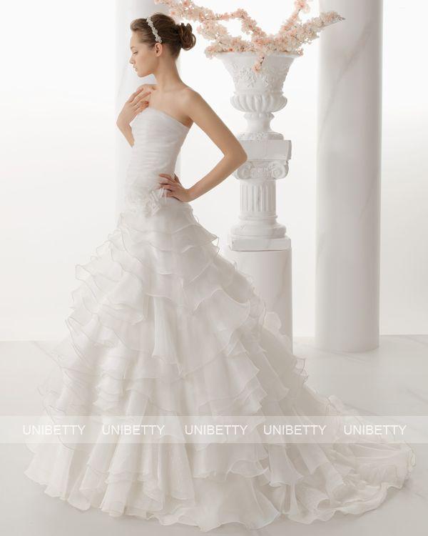 ウェディングドレス サイズオーダー 送料無料 プリンセスライン 結婚式 二次会 披露宴 ws2682
