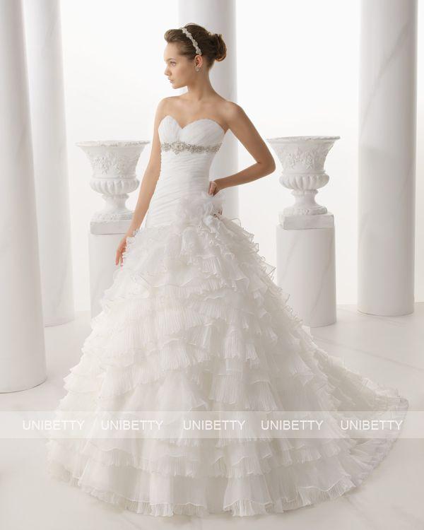 ウェディングドレス サイズオーダー 送料無料 プリンセスライン 結婚式 二次会 披露宴 ws2683