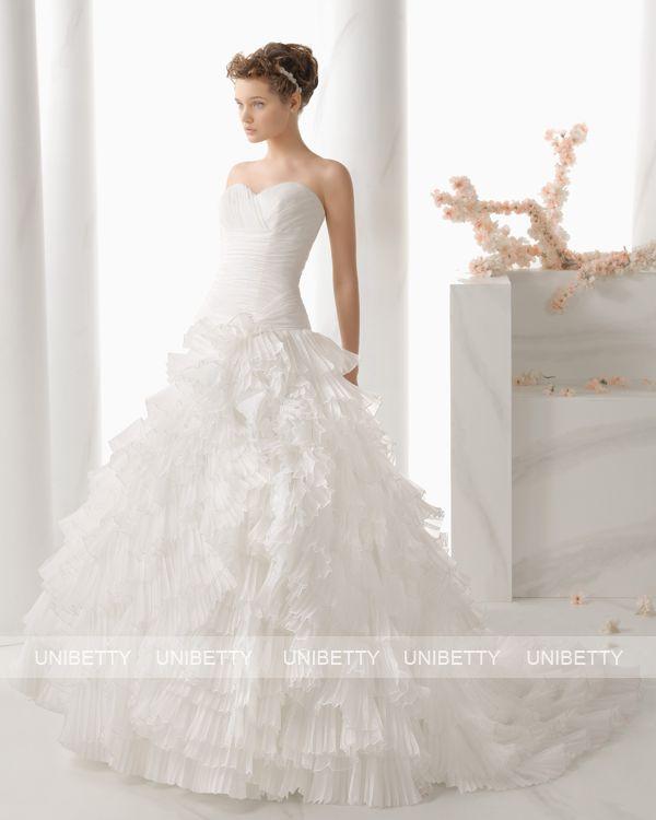 ウェディングドレス サイズオーダー 送料無料 プリンセスライン 結婚式 二次会 披露宴 ws2684