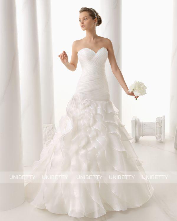 ウェディングドレス サイズオーダー 送料無料 プリンセスライン 結婚式 二次会 披露宴 ws2686