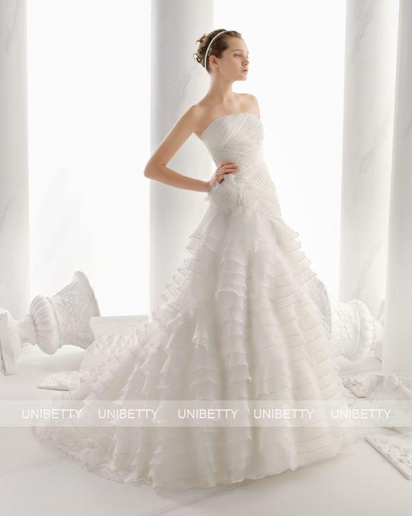 ウェディングドレス サイズオーダー 送料無料 プリンセスライン 結婚式 二次会 披露宴 ws2687