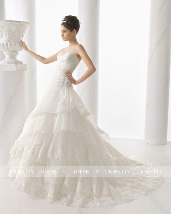 ウェディングドレス サイズオーダー 送料無料 プリンセスライン 結婚式 二次会 披露宴 ws2689