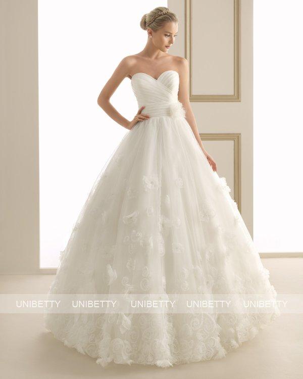 ウェディングドレス サイズオーダー 送料無料 プリンセスライン結婚式 二次会 披露宴 ws2628