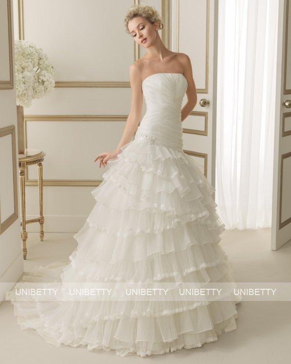 ウェディングドレス サイズオーダー 送料無料 プリンセスライン結婚式 二次会 披露宴 ws2622