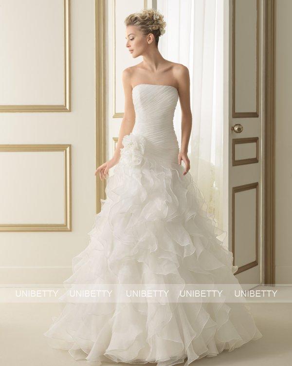 ウェディングドレス サイズオーダー 送料無料 プリンセスライン 結婚式 二次会 披露宴 ws2625