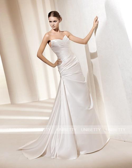 ウェディングドレス サイズオーダー無料 オーダードレス ウエディング スレンダーライン WEDDING DRESS 結婚式 披露宴 演奏会 二次会 花嫁 WS2190