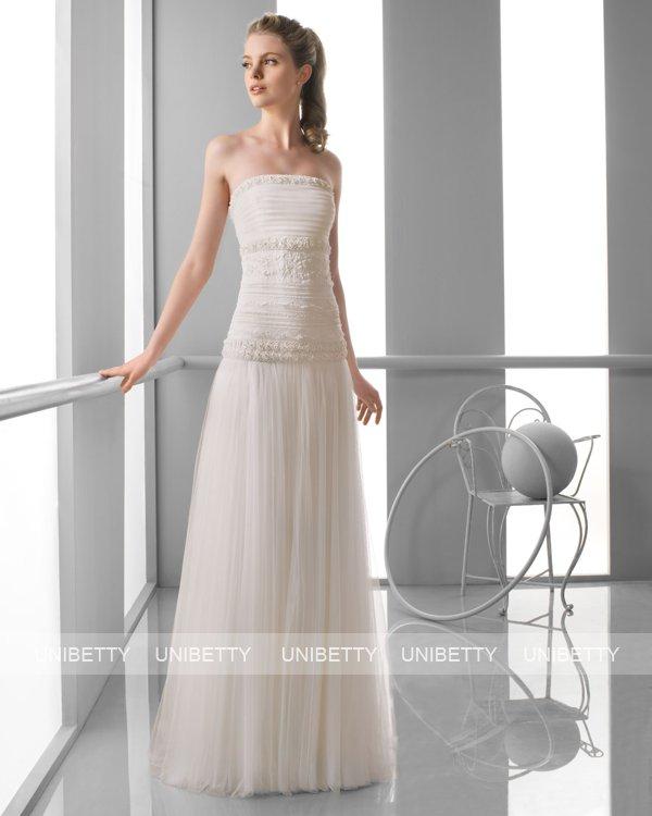 ウェディングドレス サイズオーダー無料 オーダードレス ウエディング スレンダーライン WEDDING DRESS 披露宴 演奏会 結婚式 二次会 ws2403