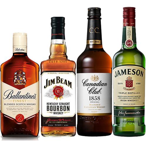 世界4大ウイスキー 飲み比べ4本セット