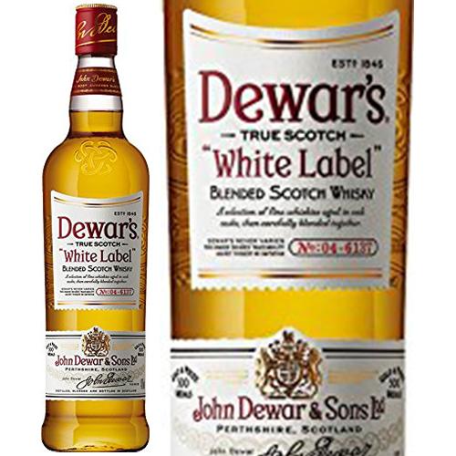 1846年にスコットランドで創業した世界的なウイスキーブランド デュワーズ 正規品 ホワイト ラベル 高級 Dewar's WHITE LABEL 700ml 40.0% ビン スコットランド ハイボールにおすすめ 瓶 ランキングTOP5 スコッチウイスキー