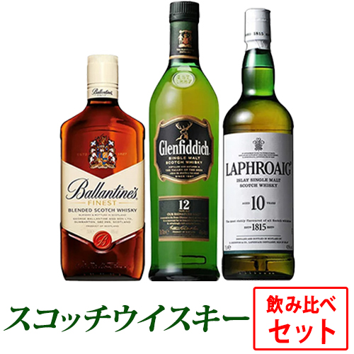 スコッチウイスキー飲み比べ3本セット