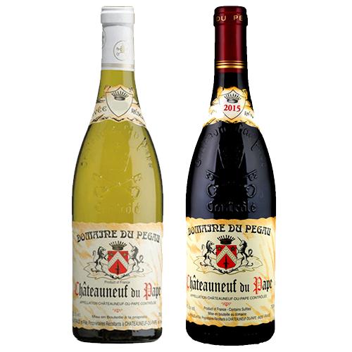 【送料無料】南仏赤白飲み比べ2本セット シャトーヌフ・デュ・パプ ルージュ/ブラン キュヴェ・レゼルヴェ ドメーヌ・デュ・ペゴー 赤ワイン/白ワイン 750ml Domaine du Pegau[Chateauneuf du Pape Cuvee Reservee] フランス コート・デュ・ローヌ※一部追加送料エリアあり
