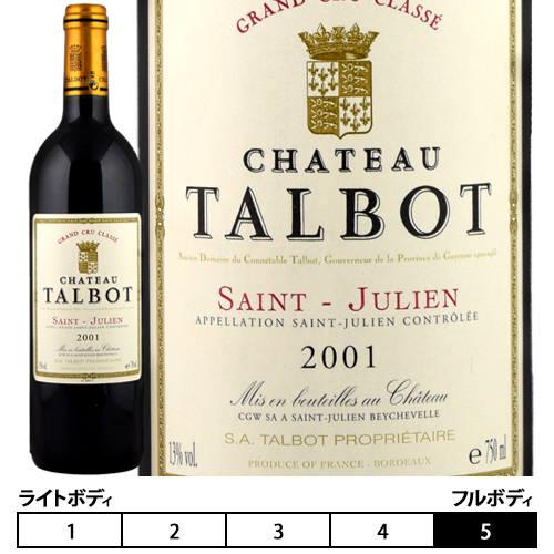 シャトー・タルボ[2001]ボルドー...