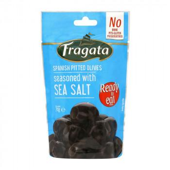 シンプルな味付けでおつまみにぴったり 即日出荷 Fragata 保証 フラガタ シーソルト 70g×8個セット ブラックオリーブ