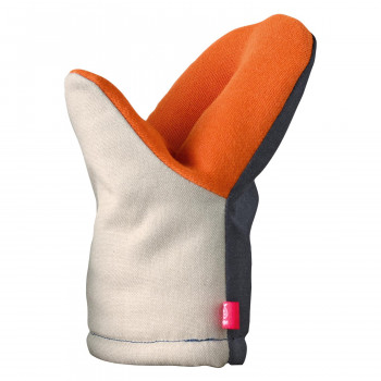 消防士の手袋メーカーと考えた耐熱ミトン leye レイエ おすすめ特集 グッとつかめる耐熱ミトン 買収 1562 LS1562 ベージュ×ネイビー