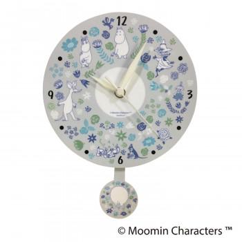 可愛いムーミンの振り子時計☆ セール価格 ムーミン振り子時計 フラワー KC-5207 限定品