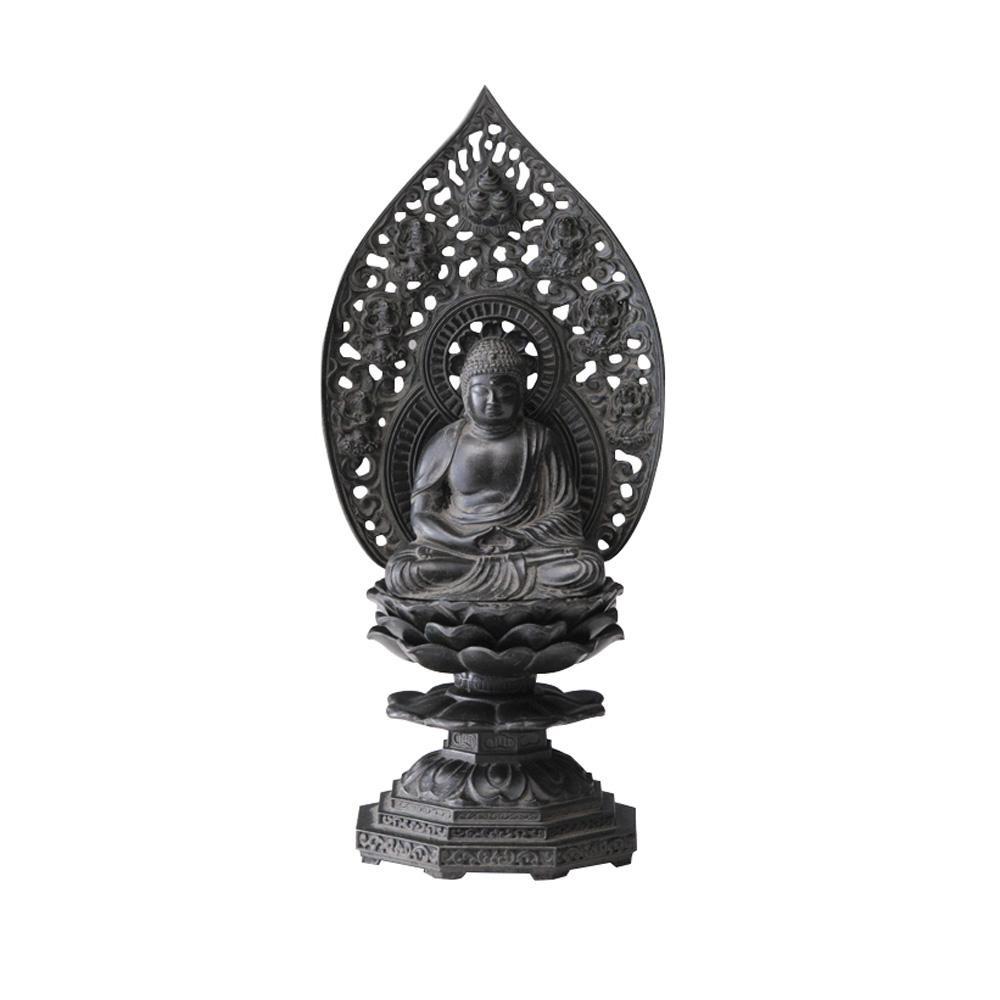 セール特価 インテリアとして飾れる仏像です 釈迦如来座像 NEW ARRIVAL 古美青銅 18cm