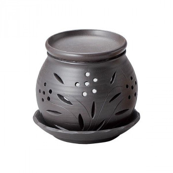 出群 贈り物や普段使いにもおすすめです 毎日がバーゲンセール 富仙黒丸茶香炉 M-1604