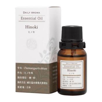 親しみやすく爽やかでウッディー調の香り デイリーアロマジャパン エッセンシャルオイル ラージ ヒノキ 13947 10ml 再再販 奉呈