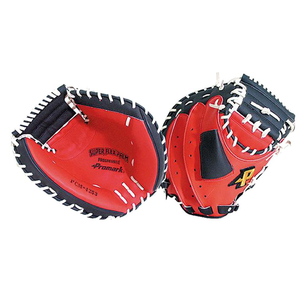 プロマークの軟式一般キャッチャーミット Promark プロマーク 野球グラブ グローブ 割り引き 爆安 軟式一般 PCM-4253RH レッドオレンジ×ブラック 左用 キャッチャーミット 捕手用