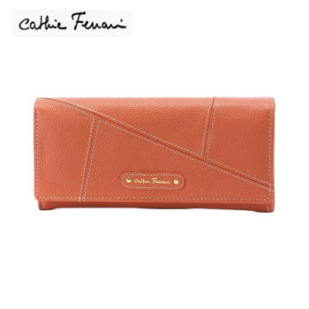 使えば使うほど味が出る牛革財布 cathie ferrari 超特価SALE開催 期間限定特別価格 キャティフェラーリ パズル レディース財布 S-CFL153126ORE ブラウン