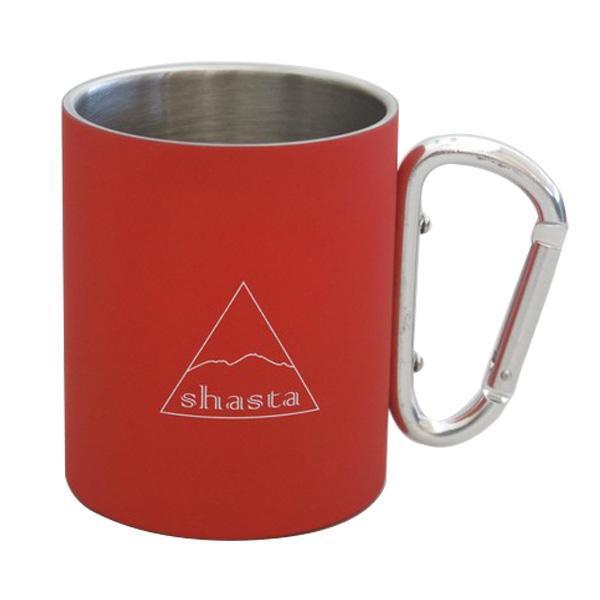 シンプルなデザインのマグカップ 再再販 shasta シャスタ カラビナマグ TWS-C-009 オンライン限定商品 RD カラー