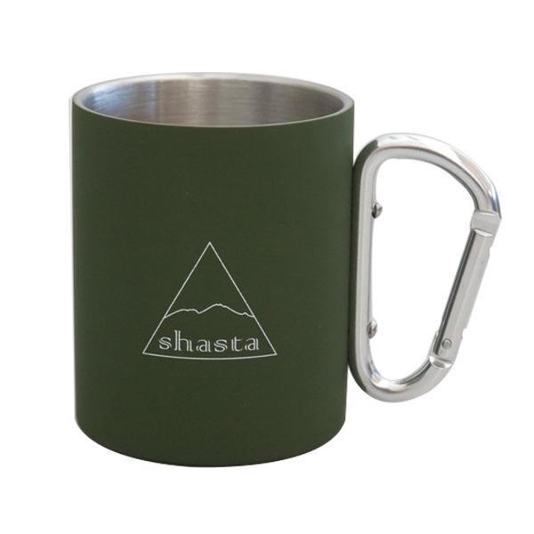 シンプルなデザインのマグカップ shasta シャスタ カラビナマグ KH カラー 超特価 至上 TWS-C-009
