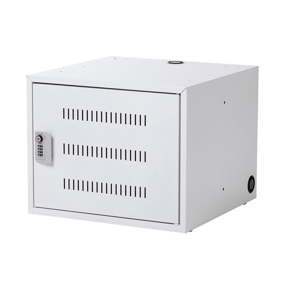 男女兼用 安心 在庫処分 鍵付き保管庫 サンワサプライ CAI-CAB106W ノートパソコン収納キャビネット