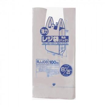 使いやすいポリ袋 ジャパックス お買い得 レジ袋 関東8号 関西25号 RJJ08 乳白 中古 100枚×20冊×4箱