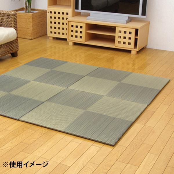 床に置くだけで和のスペースが出来上がります 純国産 置き畳 ユニット畳 シンプルノア 購買 限定特価 軽量タイプ 8604340 82×82×1.7cm ブルー 9枚1セット