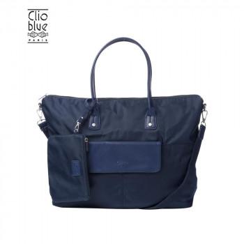 魚のロゴがポイント CLIO 直営店 大好評です BLUE クリオブルー ネイビー ポーチ付きトートバッグ B-CLL165096NVY ナイロン
