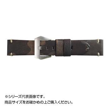 場面に合わせて 高価値 スタイリッシュにベルト交換 Emitta 本物 エミッタ 時計バンド コーヒー ツヴァイ ETP-ZC22 美錠:銀 22mm
