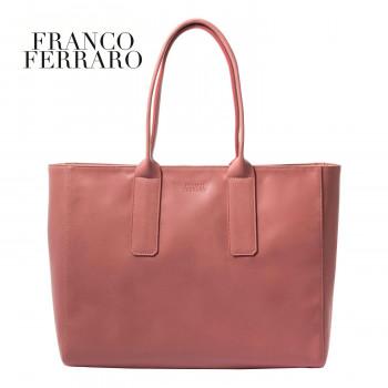 世界の人気ブランド 目を引く差し色バッグ FRANCOFERRARO 在庫処分 フランコフェラーロ ビッグカラートートバッグ B-FFL175082PK ピンク
