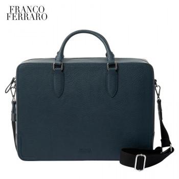 革の表情が大人の雰囲気のメンズバッグ FRANCOFERRARO フランコフェラーロ メーカー直送 メンズバッグ ショルダー付き ネイビー B-FFM175085NVY 特価キャンペーン