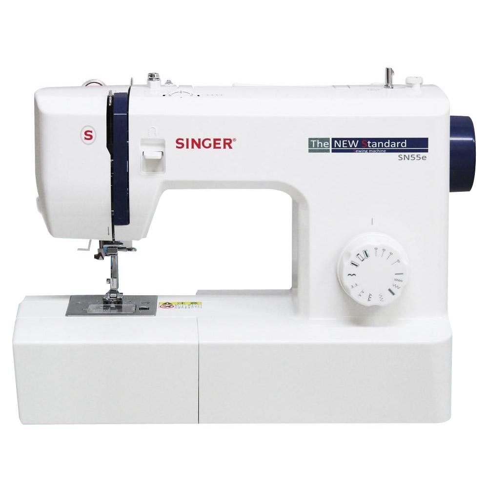 贈呈 シンプル パワフル 便利なフットコントローラー付き SINGER フットコントローラー式 お求めやすく価格改定 SN55e 電動ミシン