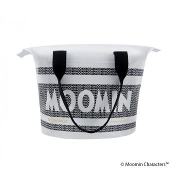 贈りものに マーケット MOOMIN ムーミン ジッパー付きトートバッグ ムーミンロゴ CMZ140001 ホワイト 海外並行輸入正規品 10L