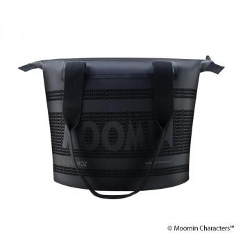 贈りものに MOOMIN ムーミン ジッパー付きトートバッグ 豊富な品 10L ブラック CMZ140002 超定番 ムーミンロゴ