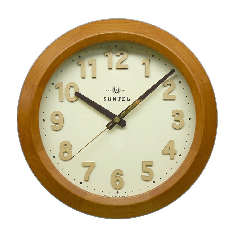 上質で快適 さんてる さんてる 日本製 電波掛け時計 サークル 電波掛け時計 DQL678-LBR ライトブラウン DQL678-LBR, 玄関先迄納品:4cfb5801 --- feiertage-api.de
