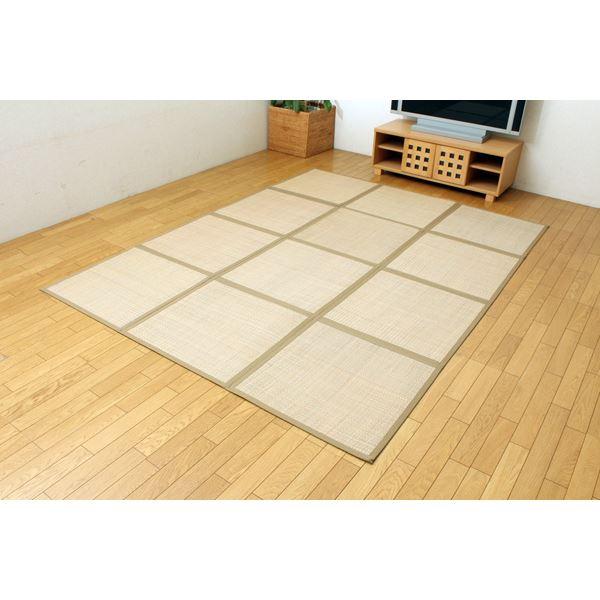 アジアンテイスト ラグカーペット 『D×マライ草』 約195×260cm(裏:不織布)