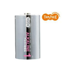 (まとめ)TANOSEE 単1形 アルカリ乾電池 2本入×50パック