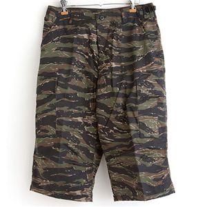 アメリカ軍 BDU クロップドカーゴパンツ /迷彩服パンツ 【 Mサイズ 】 タイガー 【 レプリカ 】