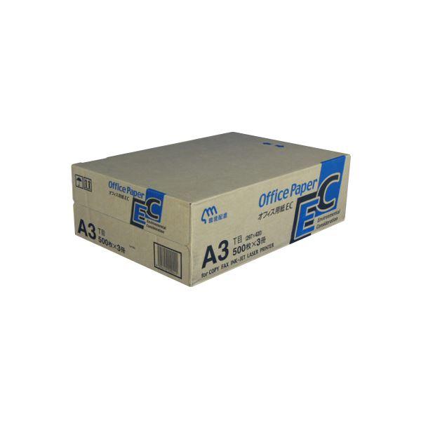 (業務用セット) 日本製紙 オフィス用紙 オフィスEC A3 500枚×3冊入 【×2セット】