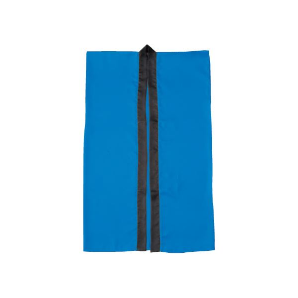 (まとめ)アーテック サテン製はっぴ/法被 【Lサイズ】 ロング丈 袖なし ハチマキ付き ブルー(青) 【×40セット】