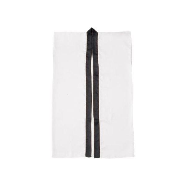 (まとめ)アーテック サテン製はっぴ/法被 【Lサイズ】 ロング丈 袖なし ハチマキ付き ホワイト(白) 【×10セット】