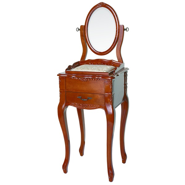 【ペット用家具】Fiore(フィオーレ) 鏡台(ドレッサー) アンティークブラウン【代引不可】