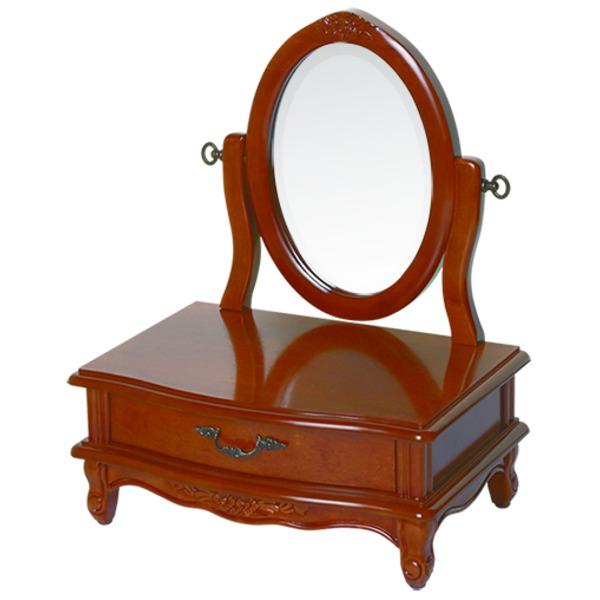 【ペット用家具】Fiore(フィオーレ) 鏡台(ドレッサー) 高さ65cm アンティークブラウン【代引不可】