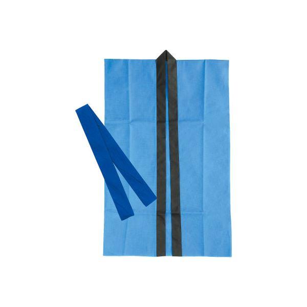 (まとめ)アーテック 不織布製はっぴ/法被 【Sサイズ】 ロング丈 袖なし ハチマキ付き ブルー(青) 【×40セット】
