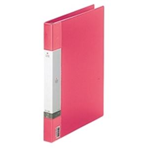 (業務用50セット) LIHITLAB クリアブック/クリアファイル リクエスト 【A4/タテ型】 差し替え式タイプ G3801-3 赤